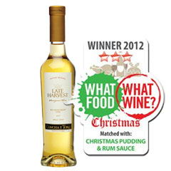 best wine with Christmas pudding